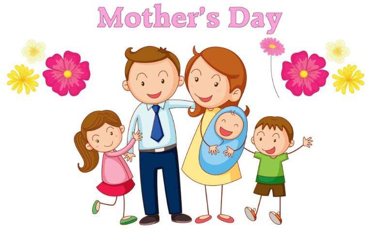 Mother's Day Image with full family