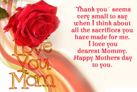 Mother's Day Message in Picture