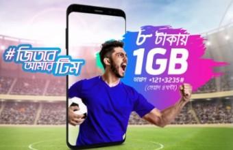 GP 1GB Internet 8 TK Offer 2018
