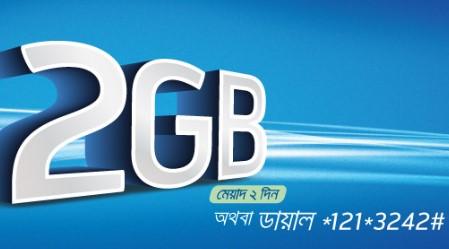 GP 2GB Internet 42 TK Offer