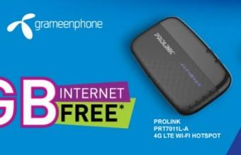 GP Pro-link 4G Modem Offer – 14 GB Internet Free