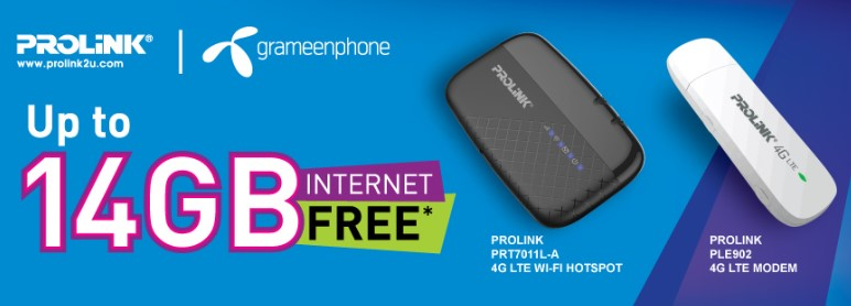 GP Pro-link 4G Modem Offer – 14 GB Internet Free