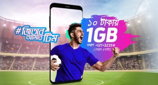 GP 1GB Internet 10 TK Offer
