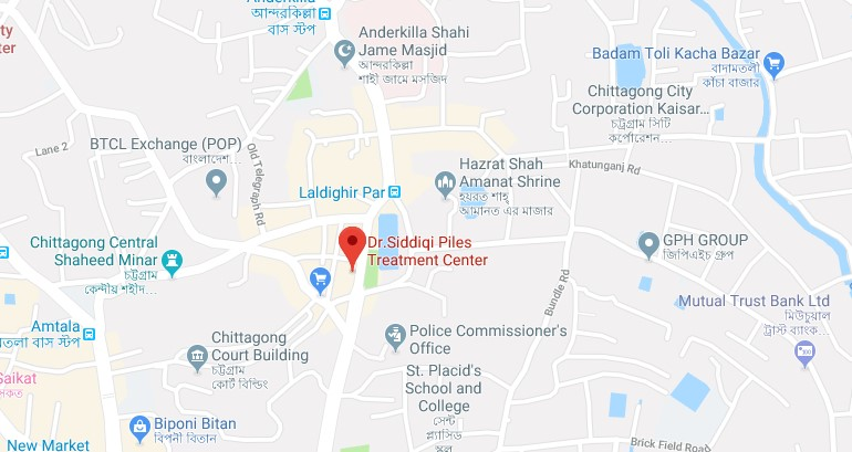Dr. Siddiqi Piles Treatment Center in Chittagong, Bangladesh Office Address by Google Maps