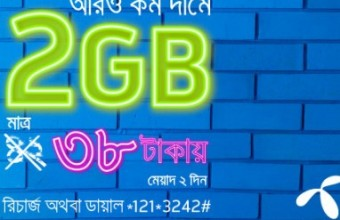 GP 2GB 38 TK Internet Offer 2018 Activation Code, Validity & Eligibility