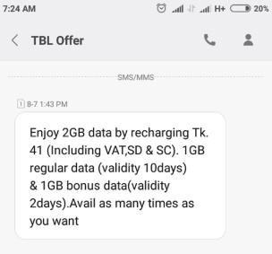 Teletalk 2GB 41 TK