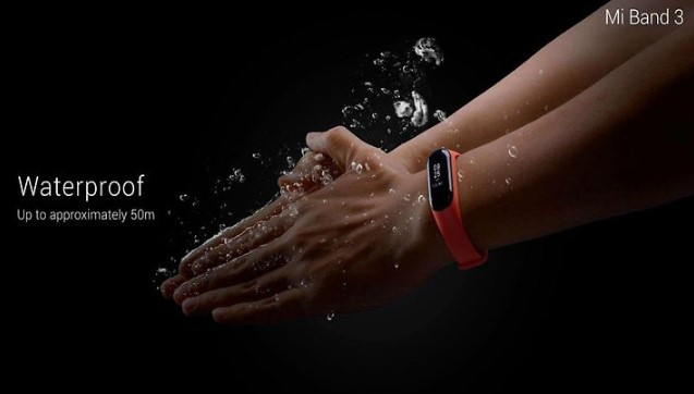 Xiaomi Mi Band 3 waterproof - 5 ATM Water Resistant Rating