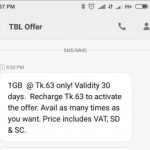 Teletalk 1GB 63 TK with 30 Days Validity