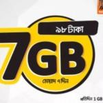 Banglalink 7GB 98 TK