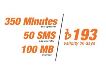 Banglalink 193 TK Bundle Offer – 350min+50SMS+100MB@193TK