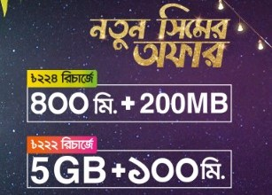 Banglalink New SIM Offer 2019 – 400min+200MB@224TK | 5GB+100min@222TK