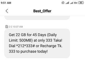 Airtel 22GB 333 TK Offer (45Days Validity)