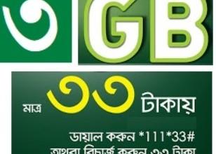 Teletalk 3GB Internet 33 TK Offer Activation Code, Validity & More