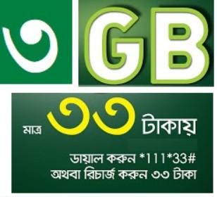 Teletalk 3GB 33 TK