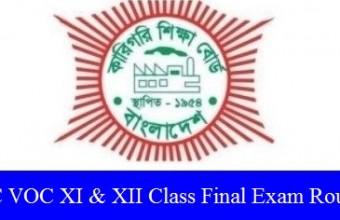 HSC VOC XI & XII Class Final Exam Routine 2019 – www.bteb.gov.bd