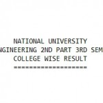 NU B.Sc Honours in CSE 2nd Part 3rd Semester Result