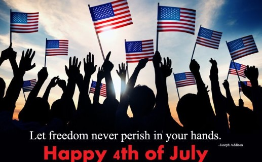 4th of July Short Taglines, Quotes, One Line Captions for Instagram, Facebook, Twitter & WhatsApp Status