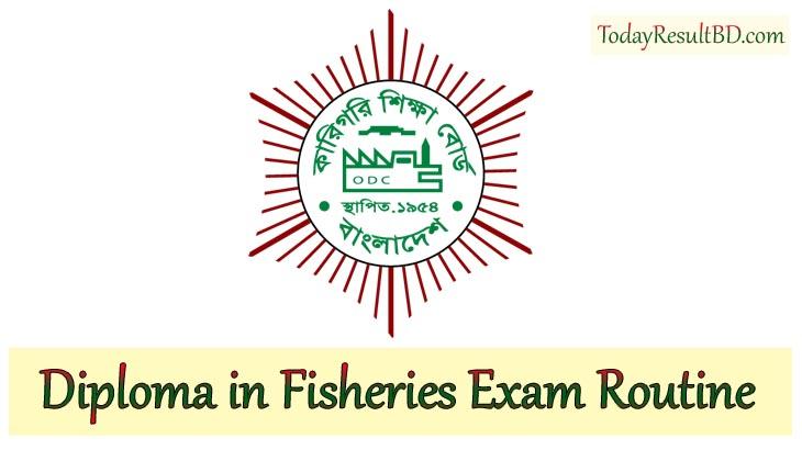 BTEB Diploma in Fisheries Exam Routine