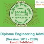 Polytechnic Diploma in Engineering Admission Merit List Result 2019 Published