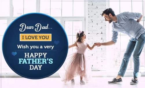 Happy Father's Day - Dad I Love You wish Quote in Picture
