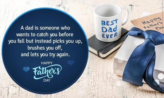 Happy Fathers Day 2019 inspirational, and respectful quote with picture & SMS