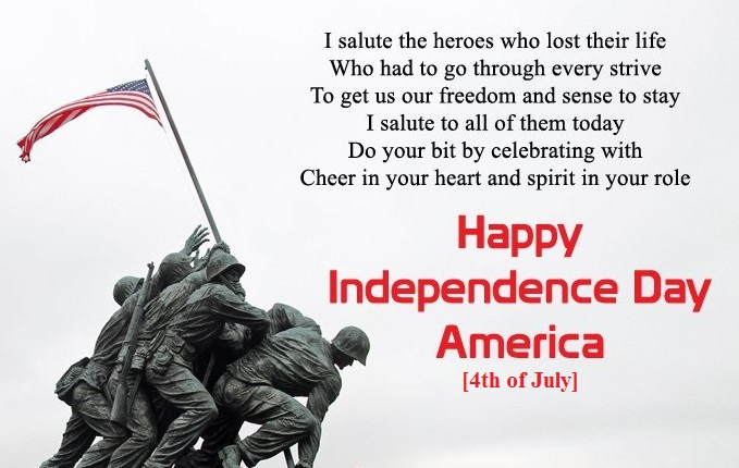 Happy Independence Day America Wishes Messages, Image, Quotes, Text, Picture, SMS, Greetings & Patriotic Pics