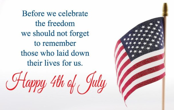 Inspirational Quotes, SMS, Picture, Text & Messages on Independence Day of USA