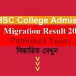 XI Class College Admission Migration Result 2019