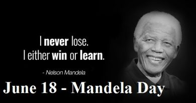 Best Inspiring Nelson Mandela Quotes - I never lose. I either win or learn for Mandela Day 2019 Facebook, Twitter & Whatsapp Status