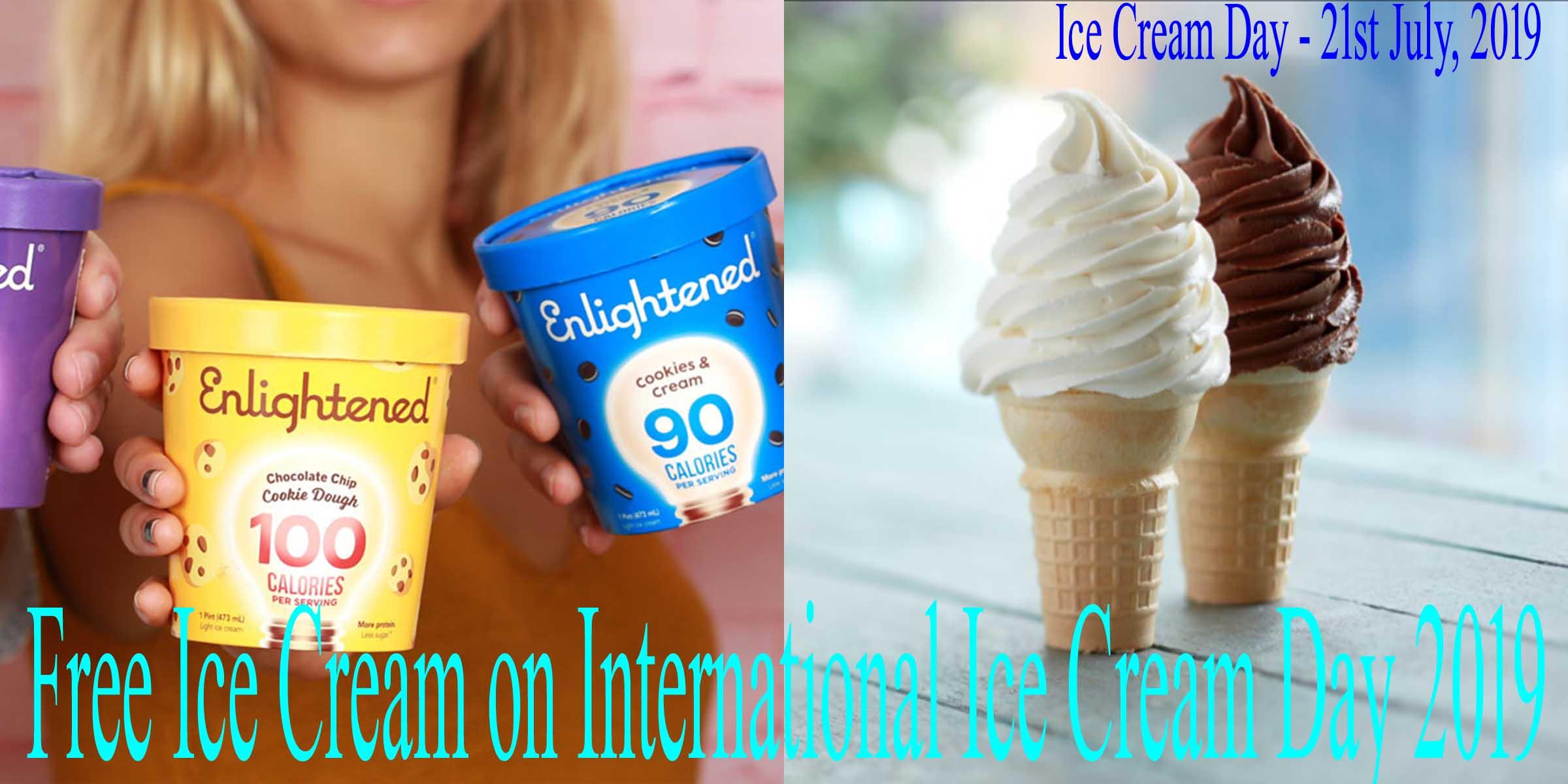 Free Ice Cream on International Ice Cream Day 2019
