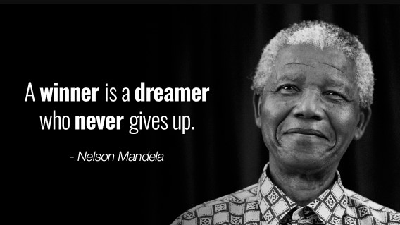 Mandela Day 2019 Quotes - Inspiring Nelson Mandela Quotes - A winner is a dreamer who never gives up