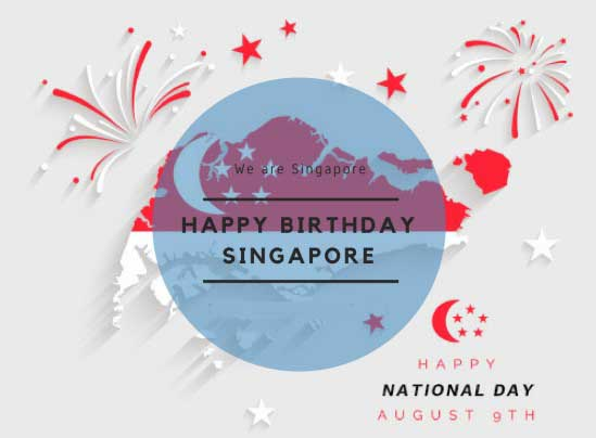 Best Happy Birthday Singapore Wishes, Messages, Quotes, Picture, Image, Wallaper, Greetings, Text - 54th National Day of Singapore 2019