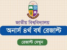 Honours 4th Year Result Check - NU Honours 4th Year Exam Result 2019