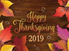 Thanksgiving 2019 – 28th September Happy Thanksgiving 2019