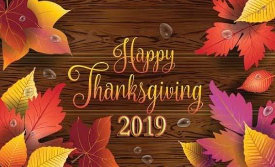 Thanksgiving 2019 – 28th September Happy Thanksgiving 2019