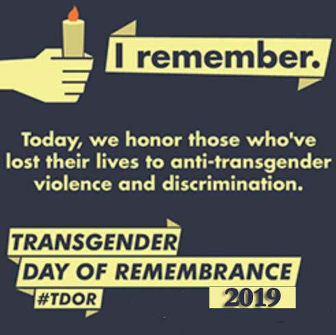 Transgender Day of Remembrance 2019