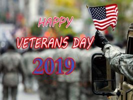 Veterans Day - 11th November Happy Veterans Day 2019