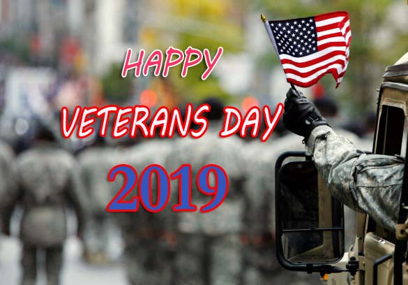 Veterans Day - 11th November Happy Veterans Day 2019