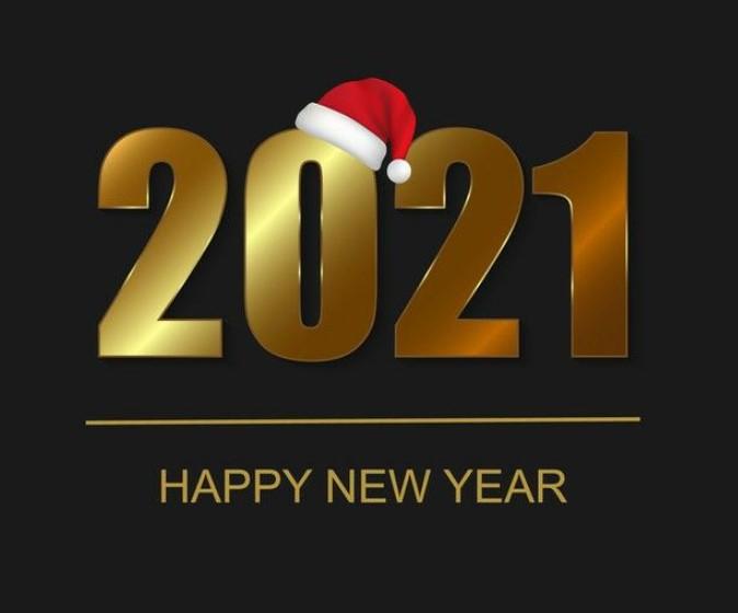1st January Happy New Year 2021