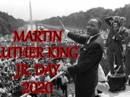 MLK Day 2020 - 20th January Martin Luther King Jr Day