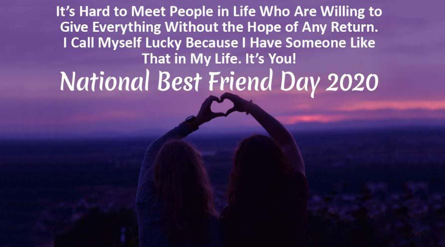 National Best Friend Day Wishes 2020