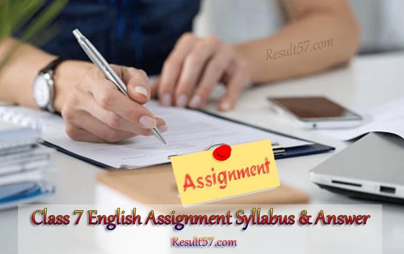 Class 7 English Assignment