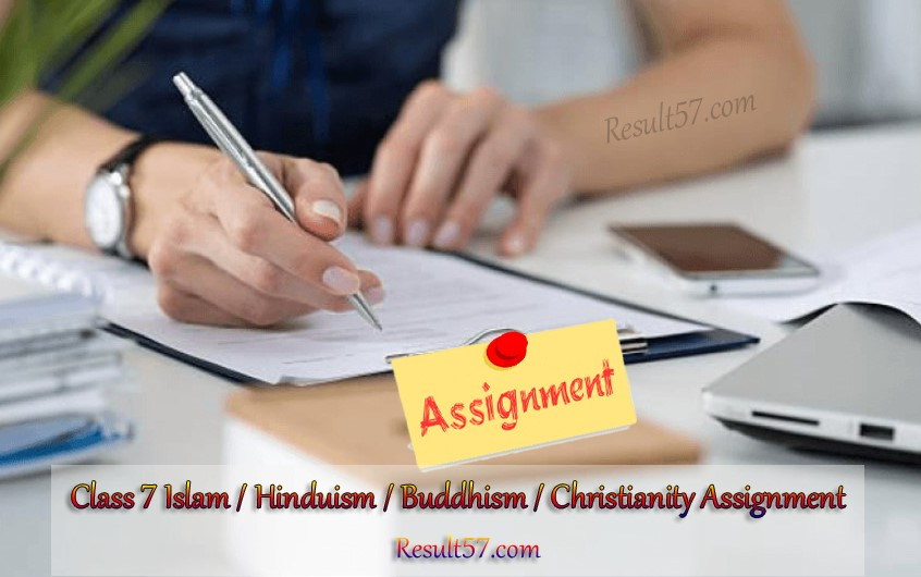 Class 7 Islam Hinduism Buddhism Christianity Assignment