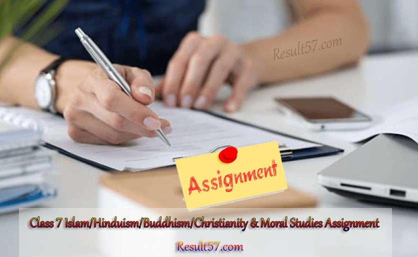 Class 7 Islam & Moral Studies, Hinduism & Moral Studies, Buddhism & Moral Studies, Christianity & Moral Studies Assignment Answer 5th Week