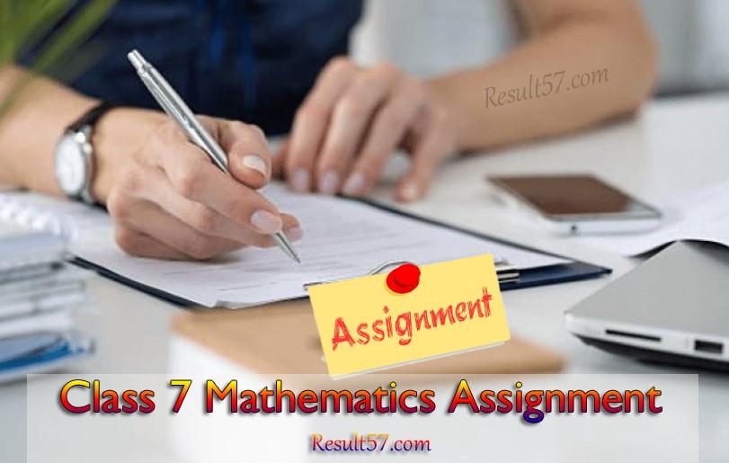 Class 7 Mathematics Assignment