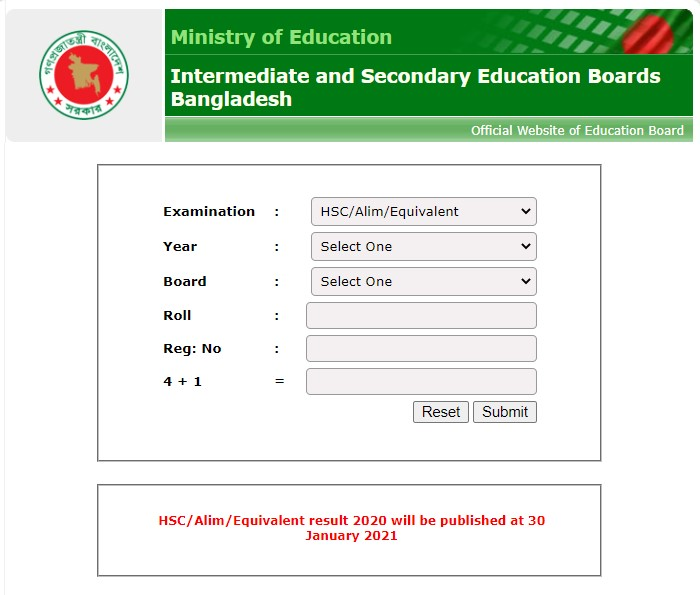 HSC Result 2020 Published 30th January 2021 - Check Online