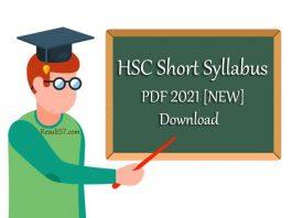 HSC New Short Syllabus 2021
