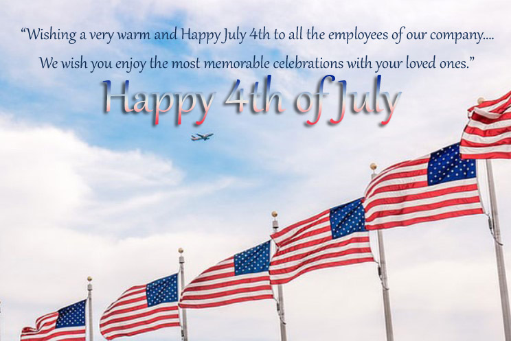 4th of July Wishes Messages for Employees
